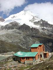 El refugio Huayna Potosí a 4.700 metros