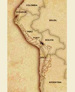 La red de caminos incas
