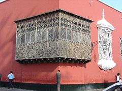 Balcón típico de Trujillo