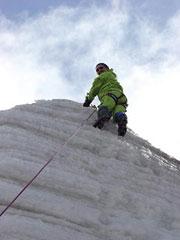 Escalada en hielo a 5.000 metros