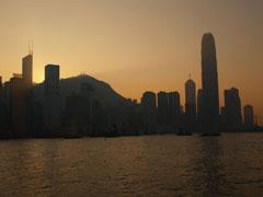 El skyline de Hong Kong