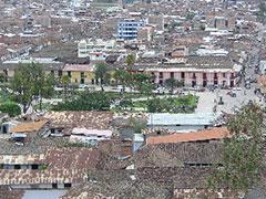 Plaza de armas desde el mirador Santa Apolonia