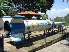 Cohete museo espacial Alcantara