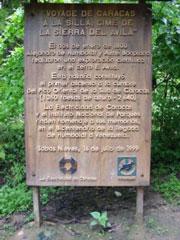 Cartel Parque Nacional Ávila