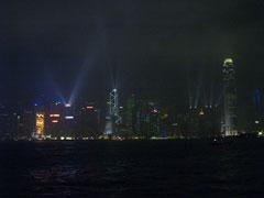 El espectáculo de láser y luces