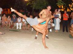 Una acrobacia de capoeira