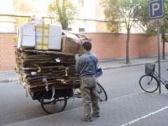 Los cartoneros también existen en China