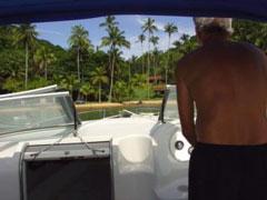 En la lancha de vuelta a Recife