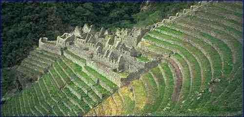Las terrazas de Macchu Pichu