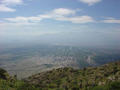 Cafayate desde la cima del Cerro San Isidro