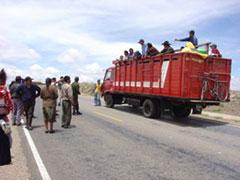 El camión perseguido y capturado