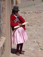 Cansada de tocar la flauta
