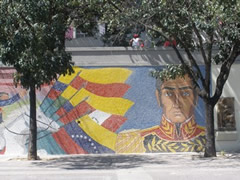 Uno de los cientos de murales de Simón Bolivar en Caracas
