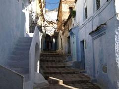Calle típica de Chauen