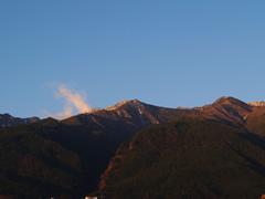 La montaña Diancangshan al amanecer