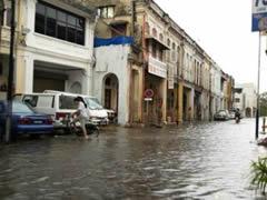 Georgetown, inundada por la tormenta