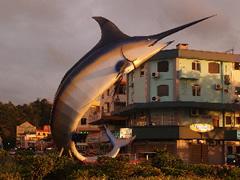 El pez espada, símbolo de Kota Kinabalu
