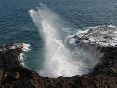 Erosión volcánica en Porto Novo
