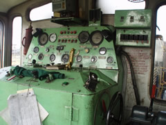 La locomotora diesel del tren de juguete