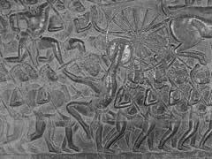 Bajorelieves en Angkor Wat.