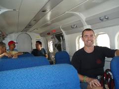 En el Twin Otter, casi un jet privado