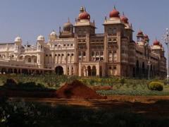 El palacio real de Mysore de día
