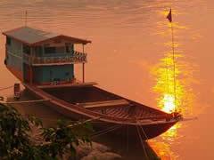 Barcos típicos del Mekong.