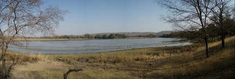 Panorámica Olympus del parque Ranthambore