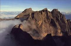 Vista aérea del Monte Kinabalu