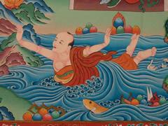 Escenas de la vida de Buda en Guru Rimpoche