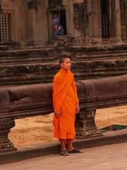 Monje budista en Angkor Wat