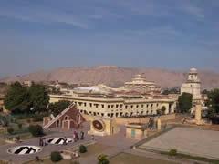 Observatorio, con el palacio real al fondo
