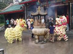 Dragones chinos en Kuching
