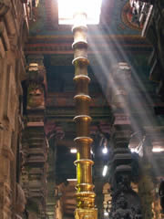 Luz natural en el templo