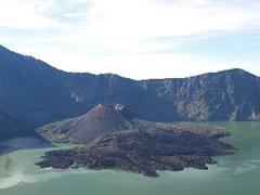 El baby volcán desde el cráter