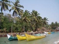 Barcas en Calangute