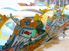 barcas típicas de Hue.