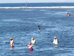 Pescadores en Sanur