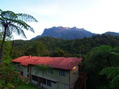 La vista desde mi hostal al amanecer