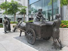 Estatua de comerciantes