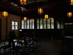 Suzhou. Jardín del Administrador Humilde. Interior pabellón