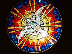 Vidriera en la capilla circular