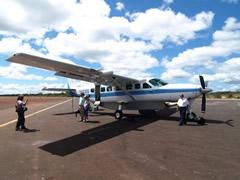 Aterrizados sanos y salvos en Canaima....
