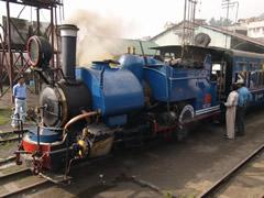 Una de las locomotoras de vapor originales