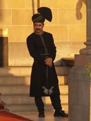 Portero del hotel Taj