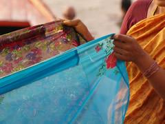Secando saris