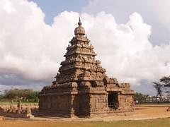 El templo de la orilla en Mamallapuram o Mahabalipuram