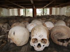 Algunos de los 9.000 restos humanos