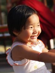 Niña tibetana