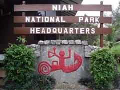 Una de las pinturas rupestres es el símbolo del Parque Nacional